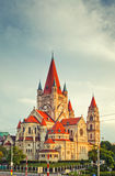 Church Heiliger Franz of Assisi in Vienna Stock Image