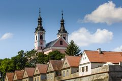 Church and hermitages in Camaldolese Monastery in Wigry, Poland Royalty Free Stock Photos