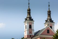 Church and hermitages in Camaldolese Monastery in Wigry, Poland Stock Photo