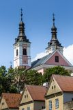 Church and hermitages in Camaldolese Monastery in Wigry, Poland Stock Photos