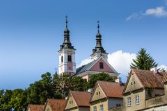 Church and hermitages in Camaldolese Monastery in Wigry, Poland Royalty Free Stock Photography