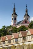 Church and hermitages in Camaldolese Monastery in Wigry, Poland Stock Image