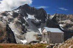 Church in high mountain Stock Photo