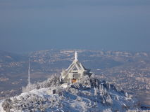 A church in high mountains stock images