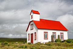 Church in highlands of Iceland Stock Photography