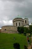 Church on a hill. Church of Esztergom,Hungary stock image