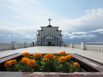 The Church on the hill Kaunas. The Church on the hill of the resurrection of Christ in Kaunas, Lithuania Royalty Free Stock Photo