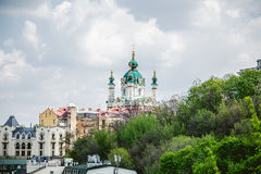Church on the hill in Kiev Stock Photo