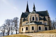 Church on hill Marianska hora - place of pilgrimage, Slovakia Stock Image