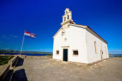 Church on the hill of Murter Royalty Free Stock Photo