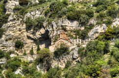 Church at the hill side Royalty Free Stock Image