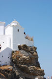 Church on a hill, Skopelos, Greece Stock Photography