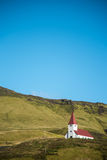 Church on hill in Vik, Southern Iceland Royalty Free Stock Image