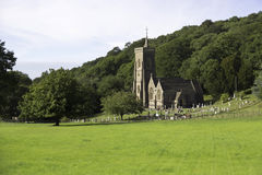 Church on a hillside in Somerset,UK Royalty Free Stock Photo