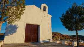 A church on the hilltop in Garela, Andalusia Royalty Free Stock Photo