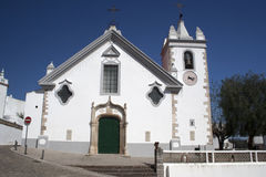 Church in the hilltop village of Alte, Portugal Stock Image