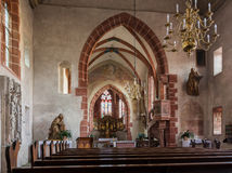Church of Hirschhorn Hesse Germany Royalty Free Stock Image