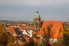 Church in the historic centre of Pirna, Saxony. Germany stock photography