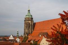 Church in the historic centre of Pirna, Saxony. Germany Royalty Free Stock Photo