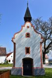 Church in Holasovice UNESCO protected village. Holasovice UNESCO protected village,Czech republic stock photo