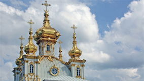 Church of the Holy apostles Peter and Paul in Peterhof stock footage