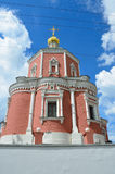 The church of the Holy Apostles Peter and Paul by the Yauza Gate under cloudy sky, Moscow, Russia. 1700 year built. Church of the Holy Apostles Peter and Paul by Stock Photography
