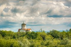 Church of the Holy Archangels Michael and Gabriel in Deligrad from Serbia.  Royalty Free Stock Photos
