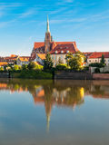 Church of the Holy Cross on Cathedral Island in Wroclaw Royalty Free Stock Photo
