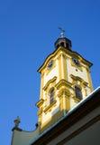 Church of Holy Cross, Cieszyn, Poland stock images