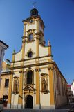 Church of the Holy Cross in Cieszyn Poland, Silesia. Church of the Holy Cross in Cieszyn was created from the beginning of the 18th century as a result of the royalty free stock photo