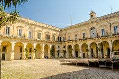 Church of the Holy Cross, cloister. Lecce, Italy Stock Images