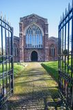 Church of the Holy Cross, Crediton Devon. Crediton Parish Church, formally the Church of the Holy Cross and the Mother of Him who Hung Thereon, is a prominent Stock Photography