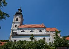 Church of the Holy Cross (1772). Devin, Slovakia Royalty Free Stock Images