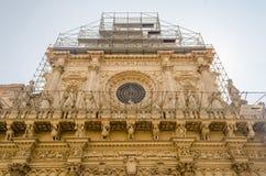Church of the Holy Cross, facade. Lecce, Italy Royalty Free Stock Photo