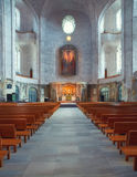 Church of the Holy Cross interior in Dresden, Saxony, Germany Royalty Free Stock Photos