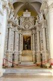 Church of the Holy Cross, interiors. Lecce, Italy Stock Photo