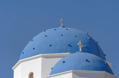 Church of Holy Cross in Perissa on Santorini Royalty Free Stock Image