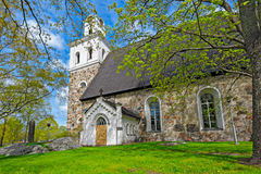Church of The Holy Cross in Rauma, Finland Stock Image