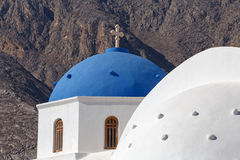 Church of Holy Cross on Santorini Stock Photography