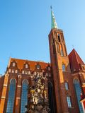 Church of the Holy Cross in Wroclaw Royalty Free Stock Photography