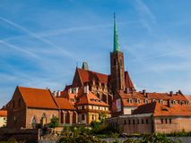 Church of the Holy Cross in Wroclaw Royalty Free Stock Photos