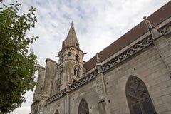 Church Holy Eusèbe, (saint Eusèbe) Auxerre Royalty Free Stock Photography