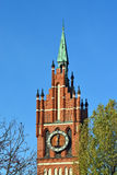 Church of the Holy family. Kaliningrad (until 1946 Koenigsberg), Russia. Church of the Holy family, neo-Gothic beginning of the 20th century. Kaliningrad (until stock image