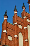 Church of the Holy family. Kaliningrad (until 1946 Koenigsberg), Russia. Church of the Holy family, neo-Gothic beginning of the 20th century. Kaliningrad (until stock photos