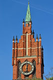 Church of the Holy family. Kaliningrad (before 1946 Konigsberg), Russia. Church of the Holy family, neo-Gothic beginning of the 20th century. Kaliningrad (until stock photo