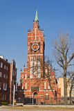 Church of the Holy family, neo-Gothic 20th century. Kaliningrad (until 1946 Koenigsberg), Russia. Church of the Holy family (german Kirche Zur heiligen Familie stock photo