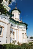 Church of the Holy Fathers in Boroaia, Romania stock photography