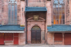 Church of the Holy Ghost or Heiliggeistkirche in Heidelberg, Ger royalty free stock photo