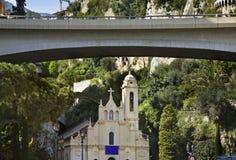 Church of the Holy Initiation in La Condamine. Principality of Monaco Stock Photo