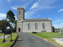 Church at Holy Lake. A wonderful looking church sitting on top of a hill at Holy Lake in Co-Cavan stock image